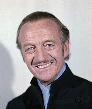 David Niven on screen, stage, radio, record and in print - Niven, photographed in 1973 by Allan Warren