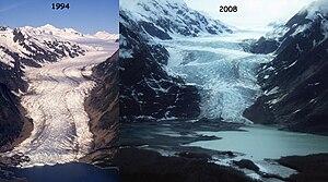 Davidson Glacier - Image: Davidson Glacier 1994 2008