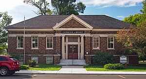 National Register of Historic Places listings in Lac qui Parle County, Minnesota - Image: Dawson Carnegie Library