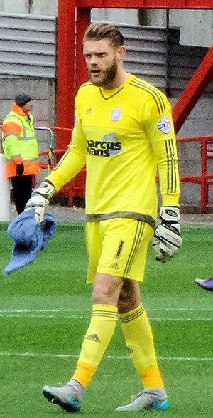 Dean Gerken - Dean Gerken playing for Ipswich Town in 2015.