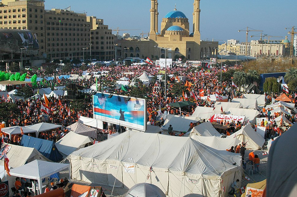 Dec 10 2006 anti-government rally Beirut