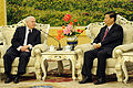 Defense.gov News Photo 110110-F-6655M-018 - Secretary of Defense Robert M. Gates and Chinese Vice President Xi Jinping meet at the Great Hall of the People in Beijing China on Jan. 10.jpg