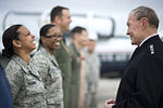 Defense.gov News Photo 120222-D-VO565-003 - A U.S. Air Force airman left talks with Chairman of the Joint Chiefs of Staff Gen. Martin E. Dempsey during a town hall meeting at Naval Air.jpg