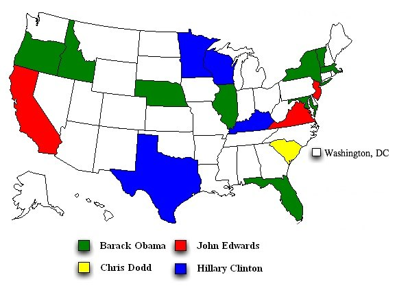 Democratic Straw poll