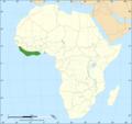 Dendroaspis viridis distribution map.png