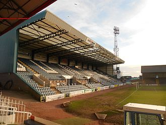 Scottish Premiership - Image: Dens stand