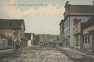 Livermore Falls, Maine - Image: Depot Street, Looking Up, Livermore Falls, ME
