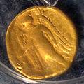 Der goldene Stater vom Nike-Typ aus dem Jahre 336-323 v. Chr., Trepcza - Kopacz.JPG