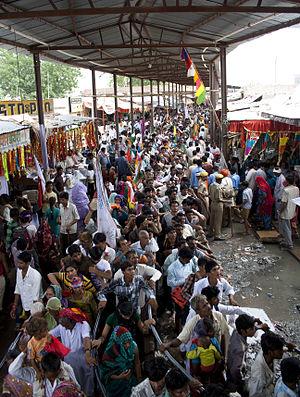 Ramdev Pir - Devotees during the two-month carnival at Ramdevra, Rajasthan, India