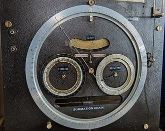 Tide-Predicting Machine No. 2 - Image: Dials on Tide Predicting Machine No. 2