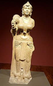 Didarganj Yakshi in the Bihar Museum (cropped).jpg