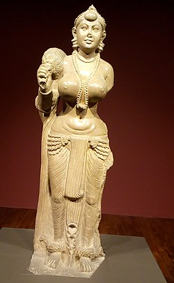 Didarganj Yakshi in the Bihar Museum (cropped).jpg