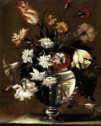 Diego Valentín Díaz - Flowers, ca. 1650, now at the Museo Diocesano y Catedralicio in Valladolid