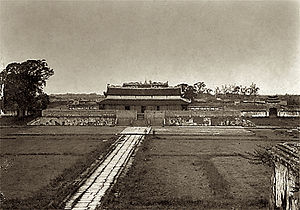 Hanoi Citadel - Kính Thiên Palace, which was later destroyed by the colonial French