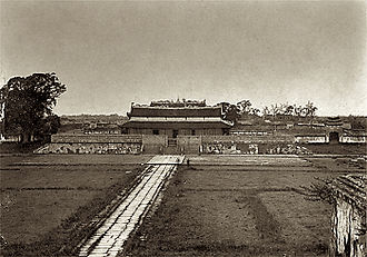 Imperial Citadel of Thăng Long - Kính Thiên Palace in the heart of the Imperial City. The palace was demolished by the French in the early 20th century