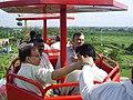 Dignitaries Riding Ropeway - Science City - Kolkata 2006-07-04 5220020.JPG