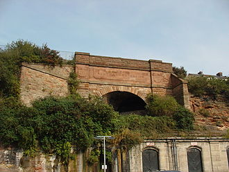 Liverpool Overhead Railway - Tunnel for Dingle station, the only underground station, and one of its few remaining visible traces