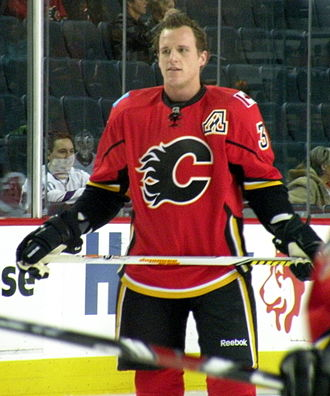 Dion Phaneuf - Phaneuf while playing with the Flames in 2008