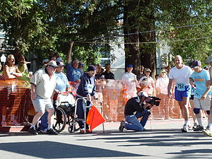 Dipsea Race - Jack Kirk, who ran in 67 consecutive races from 1930–2002, started the 2004 race.