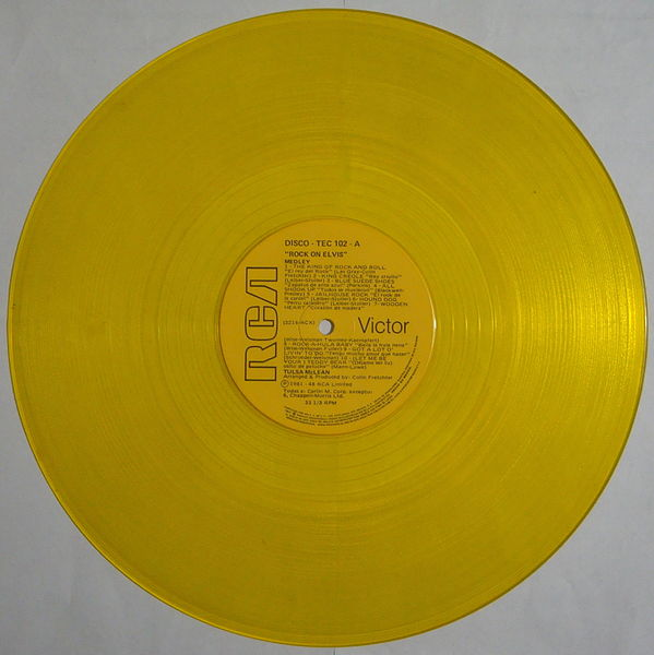 File:Disco de vinilo de color amarillo.jpg