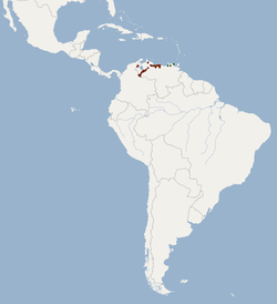 Distribution of Sturnira adrianae.png