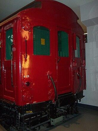 London Underground G Stock - Image: District Railway Q23 stock, LTM Covert Garden