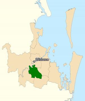 Division of Moreton - Division of Moreton in Queensland, as of the 2016 federal election.