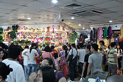 Shoppers in 168 Mall