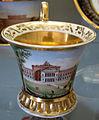 Doccia, servito con vedute di firenze, 1800-1850 ca., tazzina con villa di poggio imperiale 02.JPG