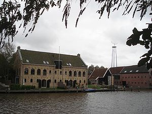Admiralty of Friesland - The Admiralty wharf at Dokkum