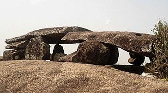 Dolmen - A Megalithic dolmen in Amadalavalasa, Andhra Pradesh, India.