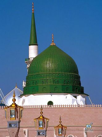 Medina - The Green Dome of the Prophet's Mosque