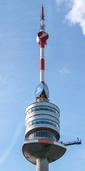 Donauturm - The observation decks and spire of the Donauturm