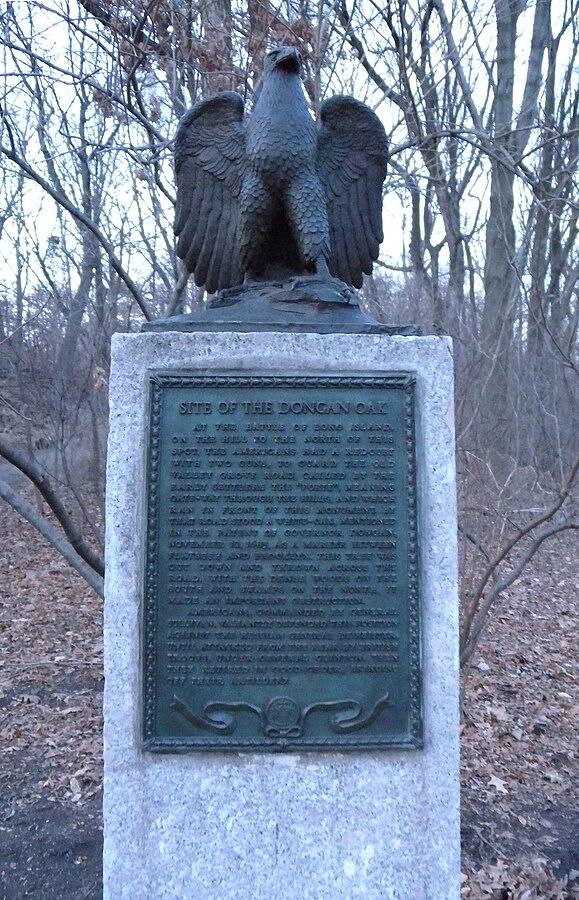 Dongan Oak Monument