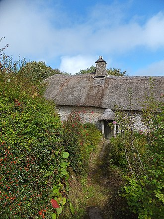 Dartmoor longhouse - Higher Uppacott (c.1350) has been preserved as a definitive example with preserved thatched roofing
