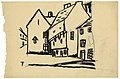 Dorpsgezicht, Felix Timmermans, tekening, Letterenhuis (Antwerpen) - tg lhtk 5935.jpg