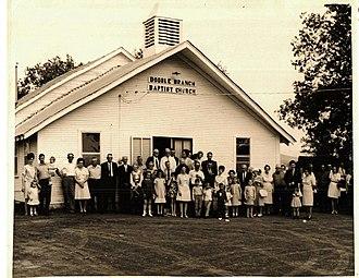 Gilmore, Oklahoma - Double Branch Baptist Church in Gilmore, Oklahoma, c. 1960