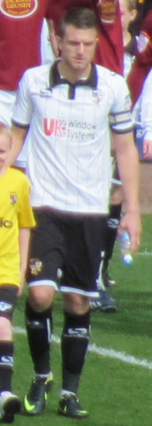 Doug Loft - Loft playing for Port Vale in April 2013