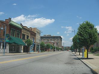 Aliquippa, Pennsylvania - Franklin Avenue downtown