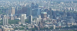 Skyline of Downtown Brooklyn seen from One World Observatory