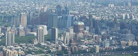 Downtown Brooklyn skyline from One World Observatory