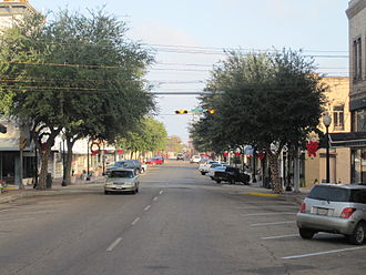 Marshall, Texas - Downtown Marshall to the north of the former Harrison County Courthouse