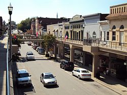 Downtown Morristown's overhead sidewalks
