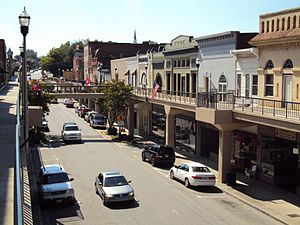 Downtown Morristown Tennessee Overhead Sidewalks.JPG