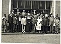 Dr Banda with members of parliament outside the old Parliament in Zomba Malawi.jpg