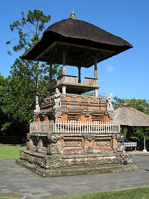 Bale kulkul - Bale kulkul in Pura Taman Ayun, Mengwi subdistrict, Bali.