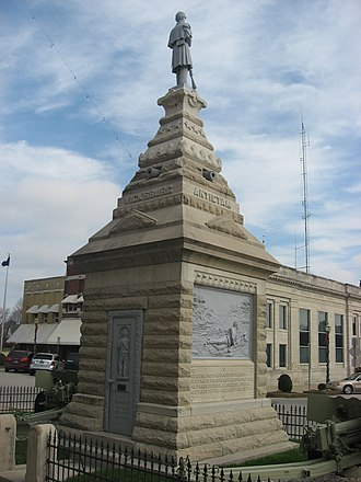 Dubois County Courthouse - Image: Dubois County Courthouse in Jasper memorial
