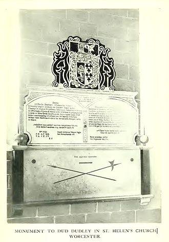Dud Dudley - Memorial to Dud Dudley in St Helen's, Worcester