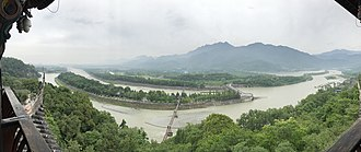 Sichuan Basin - The 2000-year-old Dujiangyan irrigation project