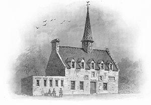 Bishop Dunbar's Hospital - Sketch of Dunbar's Hospital: from Alexander Macdonald Munro, and New Spalding Club (Aberdeen Scotland), Records of Old Aberdeen, Mclvii-Mdcccxci (Mcccxcviii-Mcmiii) Vol. 2. (Aberdeen: Printed for the New Spalding Club, 1899). - Unknown author.